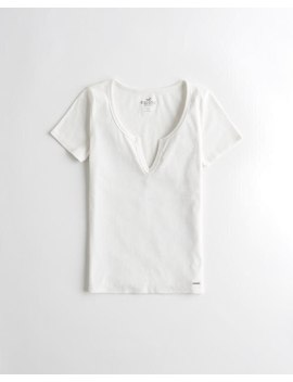 Must Have Notch Neck Top by Hollister