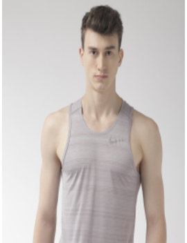 Men Grey Standard Dri Fit Miler Tank T Shirt by Nike