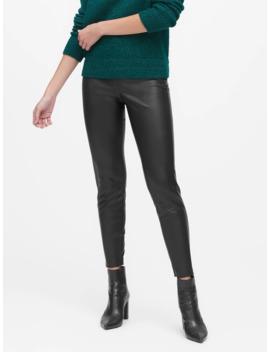 Petite Devon Legging Fit Vegan Leather Pant by Banana Repbulic