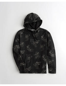 Floral Box Logo Hoodie by Hollister