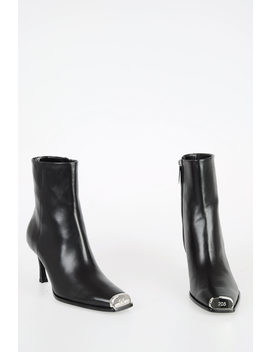205 W39 Nyc 8cm Leather Ankle Boots by Calvin Klein