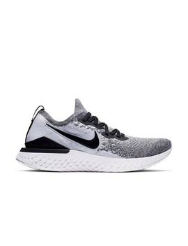 "Nike Epic React Flyknit 2 ""White/Black/Pure Platinum"" Men's Running Shoe by Hibbett"