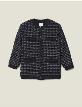 Blouson Over Size En Tweed Matelassé by Sandro Paris