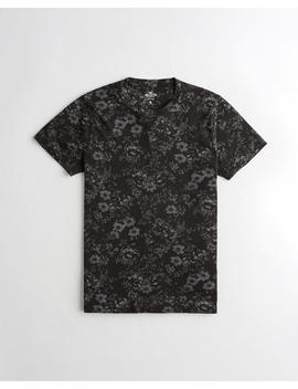 Floral Crewneck T Shirt by Hollister