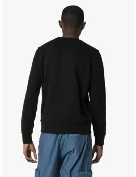Logo Crew Neck Cotton Sweatshirt by Moncler