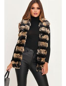 Black Pelted Fur Gillet by I Saw It First