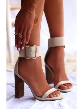 Lamba Heels Natural Linen by White Fox