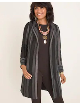 Striped Shine Duster Jacket by Chico's