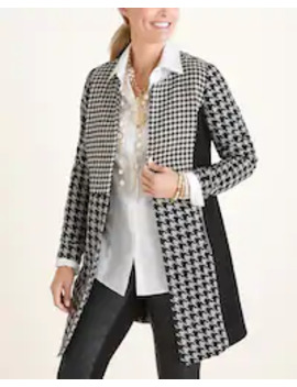 Patched Houndstooth Jacket by Chico's
