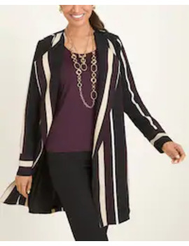 Striped Duster Jacket by Chico's