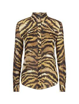Tiger Stripe Print Shirt by Balmain