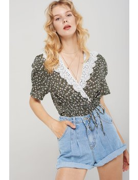 Cersei Lace Collar Floral Blouse by Storets