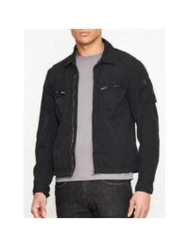 Aldington Garment Dyed Overshirt   Black by Belstaff