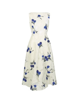 Boat Neck Floral Print Dress by Lela Rose