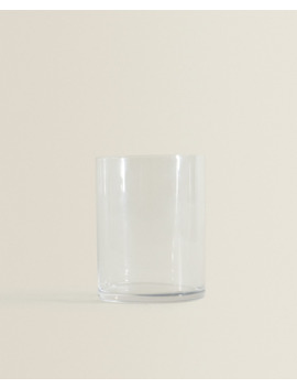 Straight Glass Tumbler  Tumblers   Glassware   Dining by Zara Home