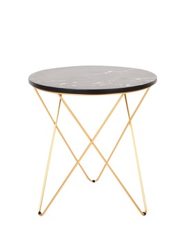 Marble Cross Leg Side Table (H48cm X W45cm) by Matalan