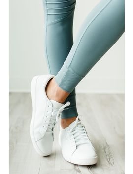 Ace Leather Sneakers   White by Mindy Mae's Market