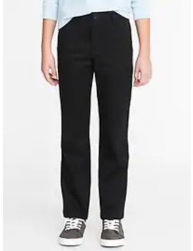 Straight Built In Flex Uniform Pants For Boys by Old Navy