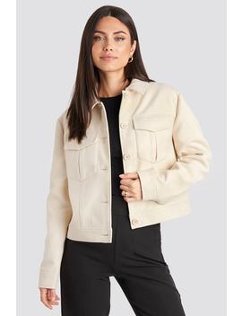 Big Pocket Short Jacket White by Nakdclassic