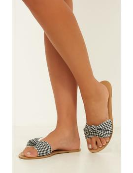Billini   Cavanah Sandals In Black Gingham by Showpo Fashion