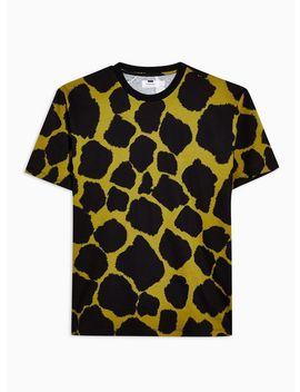 Khaki Animal Print T Shirt by Topman