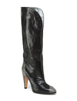 Made In Italy Knee High Leather Show Boots by Tj Maxx