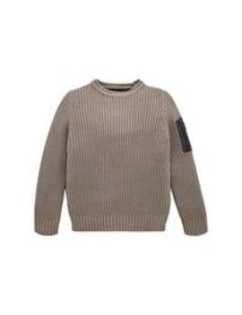 Boys Ribbed Knitted Jumper   Grey by Lyle & Scott