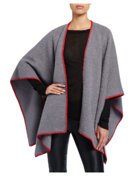 Wool Contrast Stitched Cape by Rick Owens