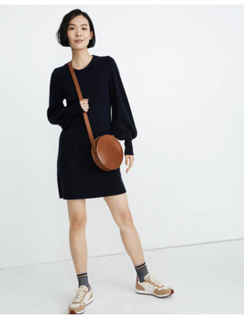 Cashmere Puff Sleeve Sweater Dress by Madewell