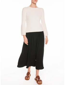 Flared Raglan Sleeve Sweater by Veronika Maine
