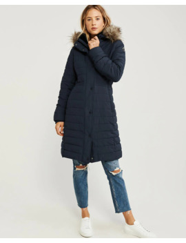 Long Stretch Puffer by Abercrombie & Fitch