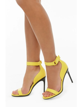 Faux Leather Stiletto Heels by Forever 21