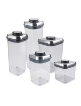 Oxo Stee L™ Pop Square Food Storage Container by Bed Bath And Beyond