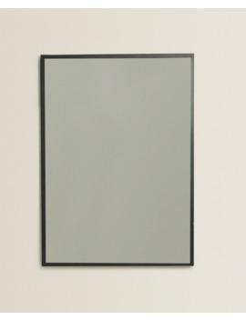 Rectangular Metal Mirror  Mirrors   Living Room by Zara Home
