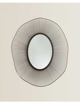 Mirror With Irregular Metal Frame  Mirrors   Living Room by Zara Home
