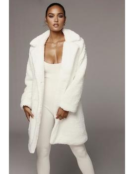 Ivory Missie Faux Lamb Coat by Jluxlabel