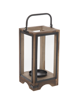 Open Brown Wood Lantern   Small by Hobby Lobby