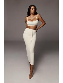 Ivory Reign Belted Set by Jluxlabel