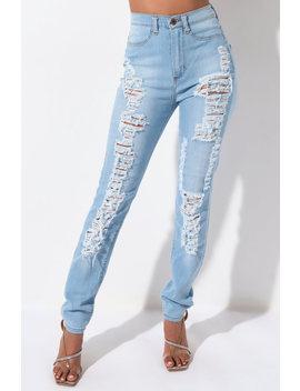 Ciao Bella Distressed Skinny Denim Jeans by Akira