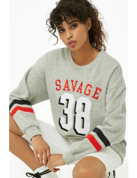 Savage Graphic Sweatshirt by Forever 21