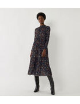 Floral Tiered Midi Dress by Warehouse