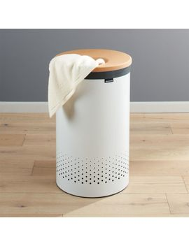Brabantia 60 Liter White Laundry Bin With Cork Lid by Crate&Barrel