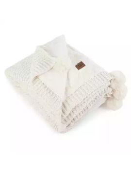 Ugg® Cameron Knit Reversible Throw Blanket In Snow by Bed Bath And Beyond