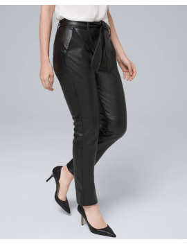 Vegan Leather Tapered Ankle Pants by Whbm