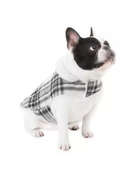 Ugg® Dog Plaid Extra Small Coat In Charcoal by Bed Bath And Beyond