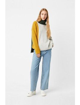 River Vhari Colour Block Roll Neck Jumper by French Connection