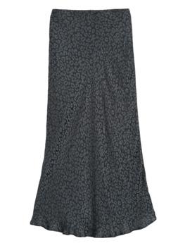Petite Leopard Midi Slip Skirt by Banana Repbulic