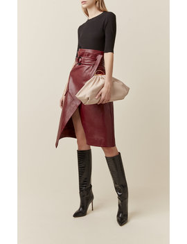 Gabi Oversize Leather Clutch by The Volon