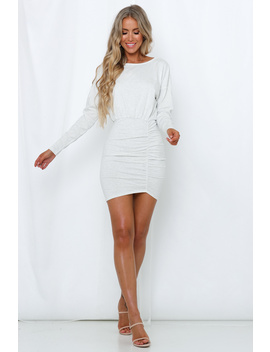 Toss The Dice Dress Light Grey by Hello Molly