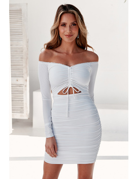 Sing Me A Song Dress White by Hello Molly